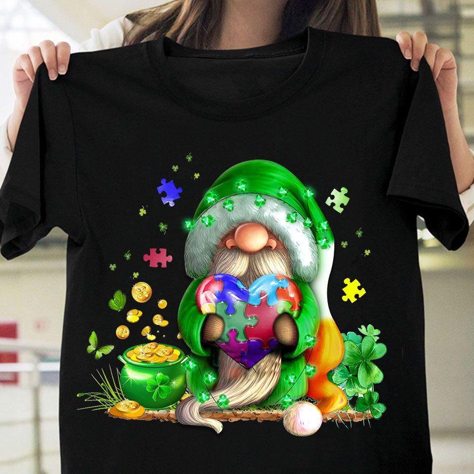 Gnome Shamrock Autism Day Shirt