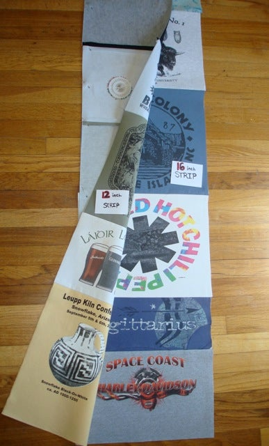 Great way to make a t shirt quilt diy