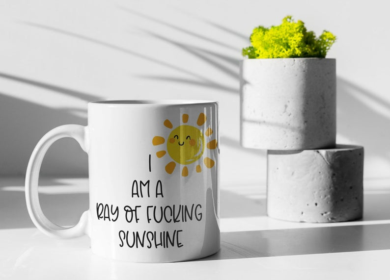 I Am A Ray Of Fucking Sunshine Mug Ceramic Cup