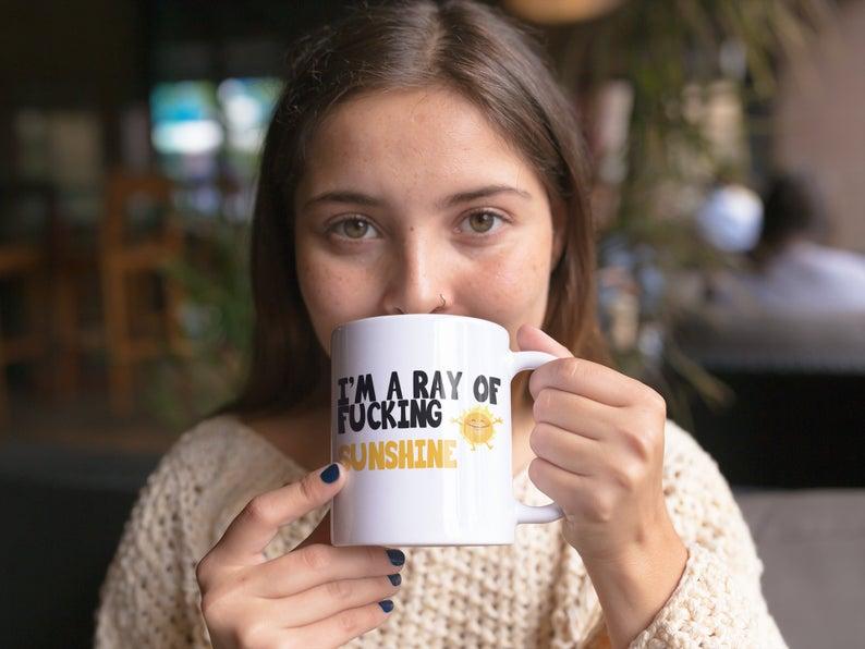 I Am A Ray Of Fucking Sunshine Mug Funny Coffee Mug