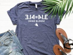 Mind Blown Pi Day Shirt 3.14 Equals 41.3
