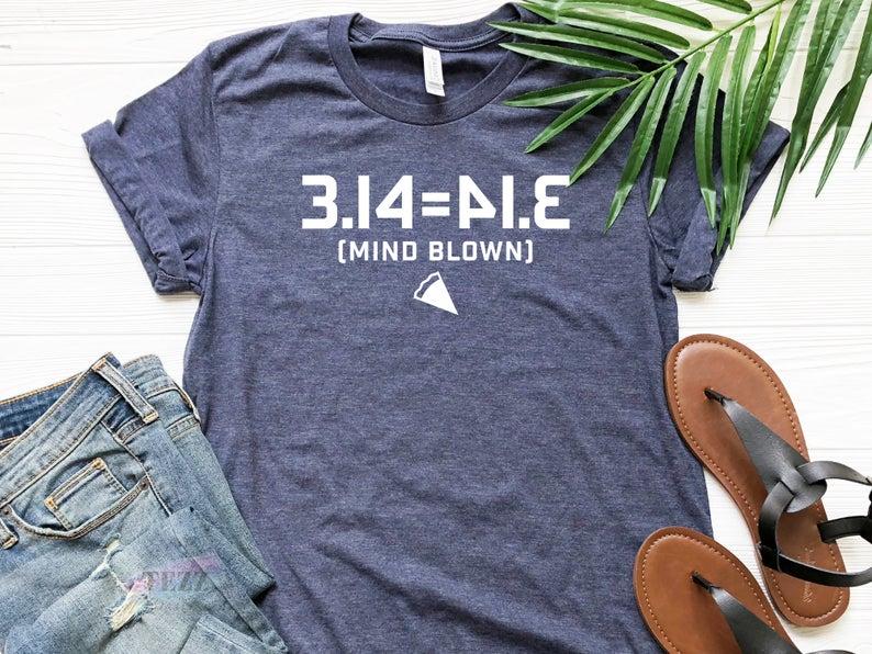 Mind Blown Pi Day Shirt 3.14 Equals 41.3