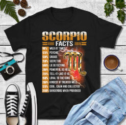 Scorpio Facts Shirt 98% Wild At Times