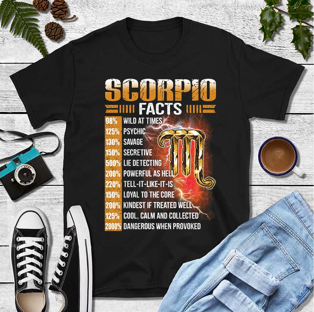Scorpio Facts Shirt 98% Wild At Times