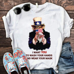 Uncle Sam Hand Hygiene Shirt Wash Your Hand Wear Your Mask