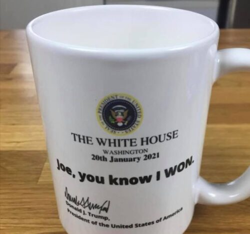 Trump The White House Joe You Know I Won Coffee Mug photo review