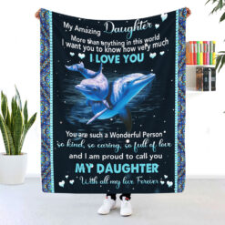 Daughter Blanket I Am Proud To Call You Daughter