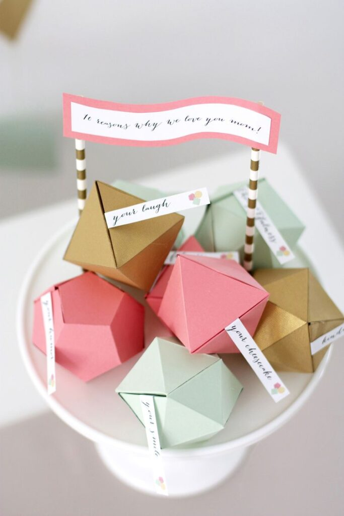 Geometric Mothers Day Surprise