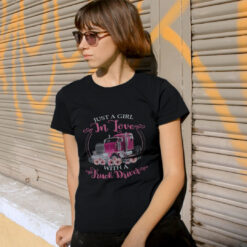 Just A Girl In Love With A Truck Driver Shirt mockup
