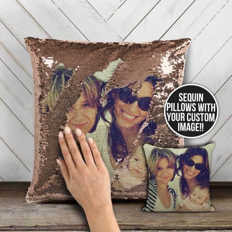 Photo Sequin Pillow