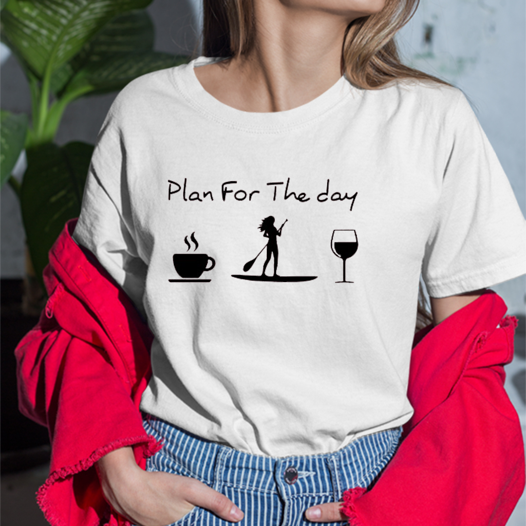 Plan For The Day Coffee Paddle Boat And Wine Shirt