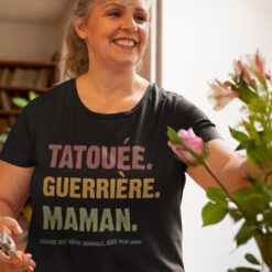 Tatouee Guerriere Maman Shirt French Mom Gift
