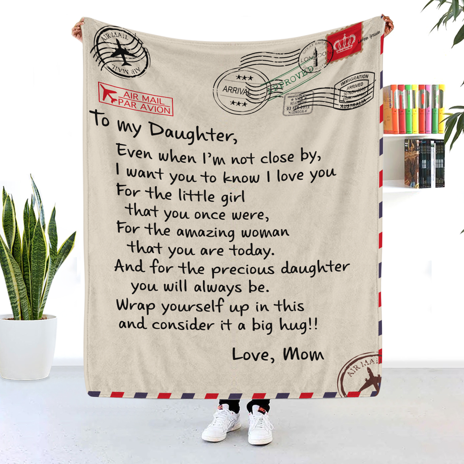 To My Daughter Even When I'm Not Close By Blanket Post Mark