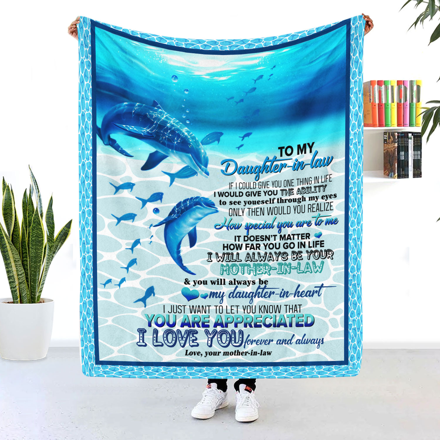To My Daughter In Law Blanket I Love You Your Mother In Law