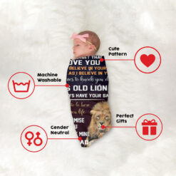 To My Daughter This Old Lion Will Always Have Your Back Blanket