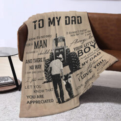 Trucker Dad Personalized Blanket Always Be Your Little Boy
