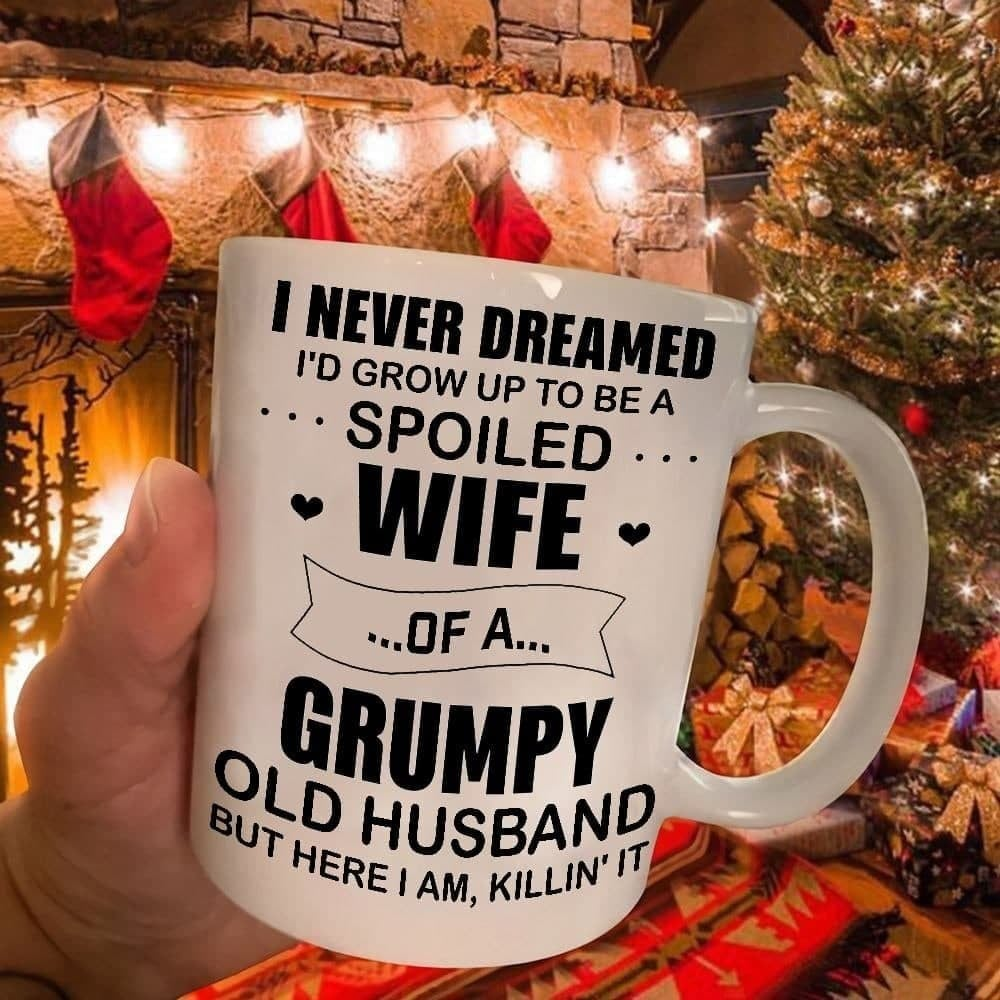 Wife-Mug-Spoiled-Wife-Of-A-Grumpy-Old-Husband-mothers-day-gift-for-pregnant-wife