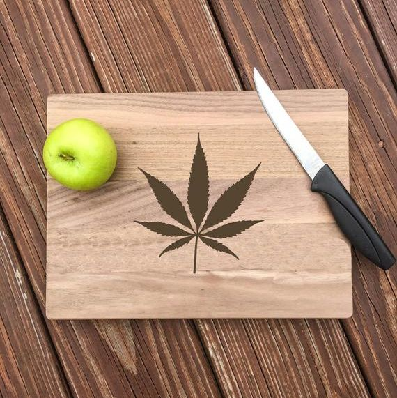 best gift for a weed smoking mom cutting board