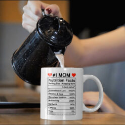 #1 Mom Mug Nutrition Facts mock