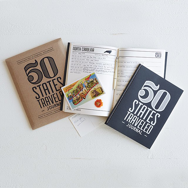 50 States Traveled Journal-best holiday gifts for teacher
