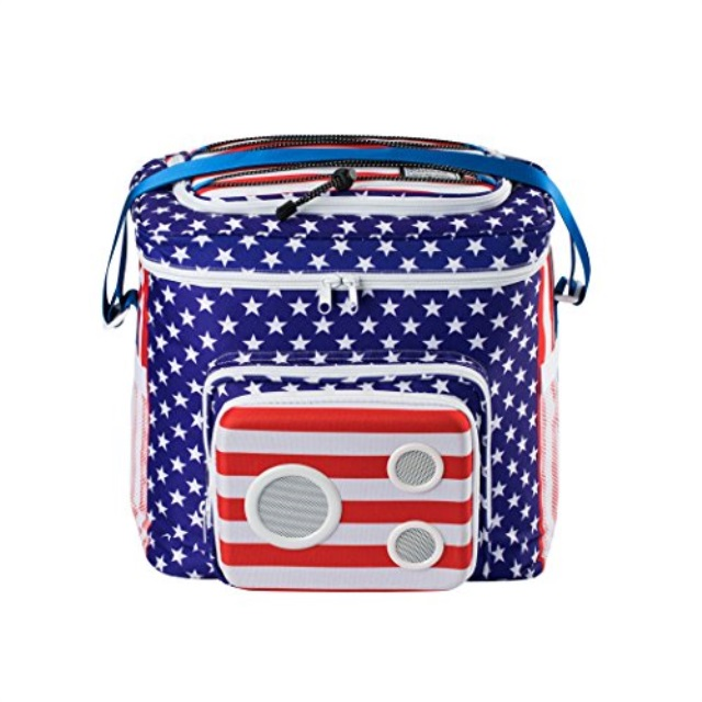 American Flag Cooler with Speakers Subwoofer
