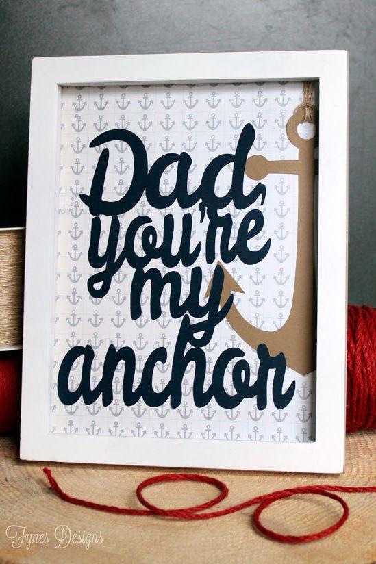 Anchor Print- gift ideas for dad diy