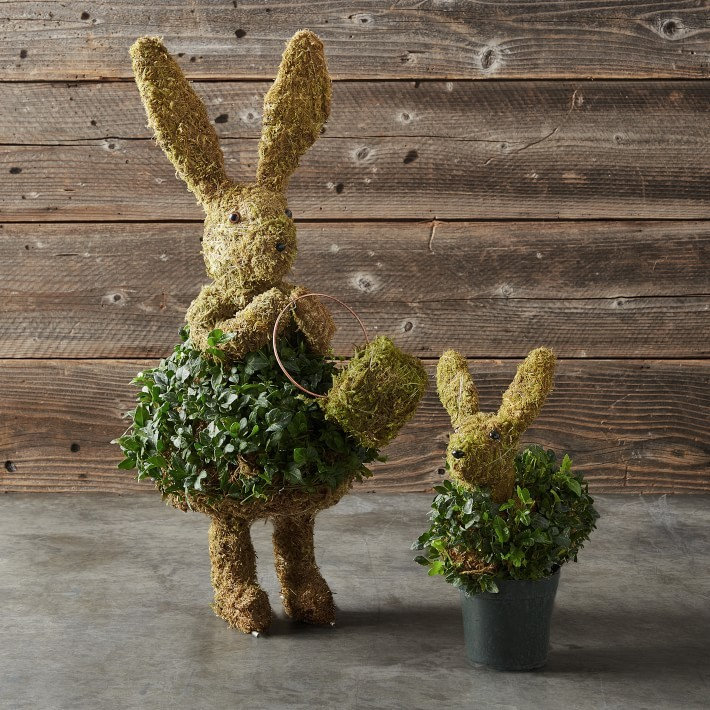 Baby Ivy & Moss Easter Bunny Topiary- great holiday gifts for teacher.