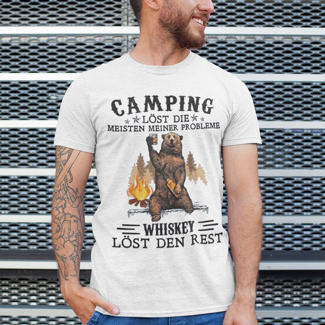Bear Camping Lost Die Meisten Meiner Probleme Shirt