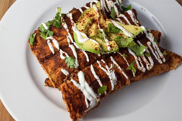 Butternut Mole Enchiladas
