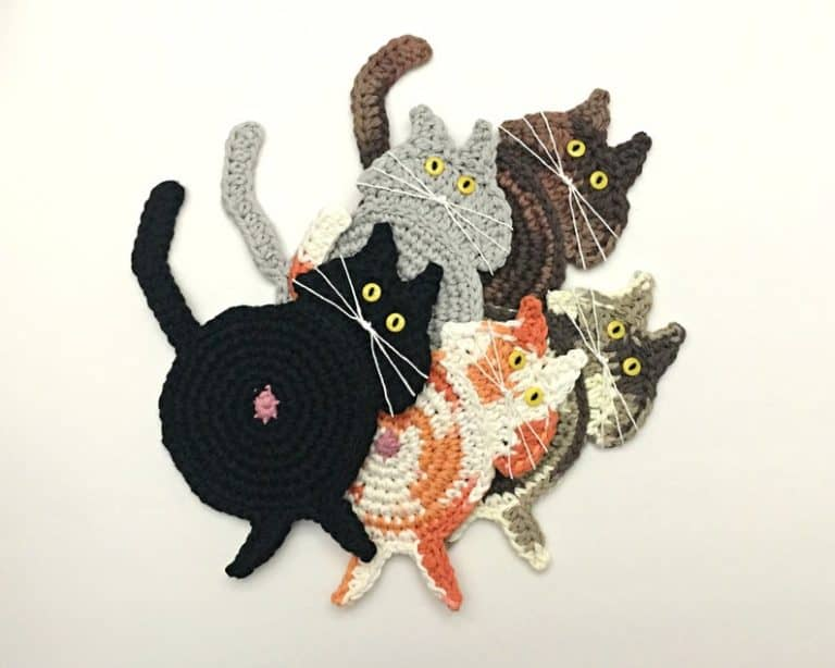 Cat Butt Coaster funny gift for cat lover