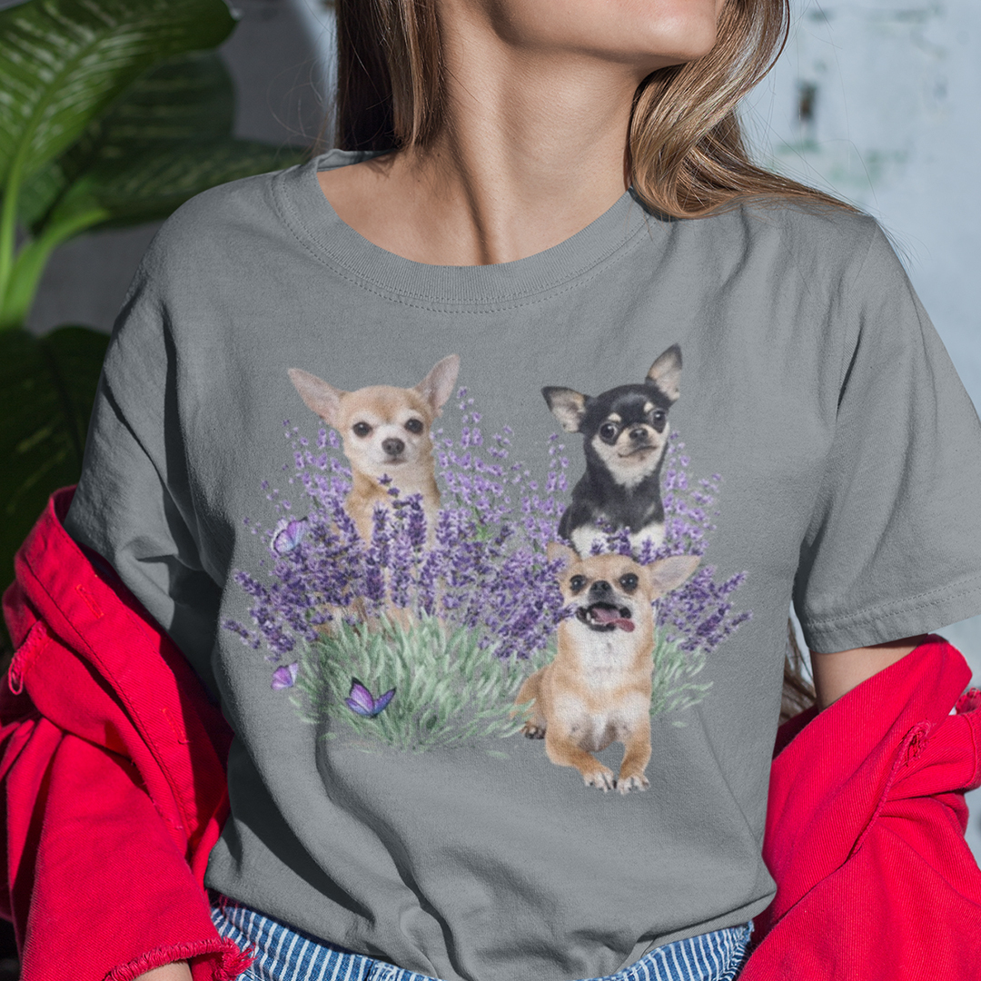 Chihuahua Lavender shirt