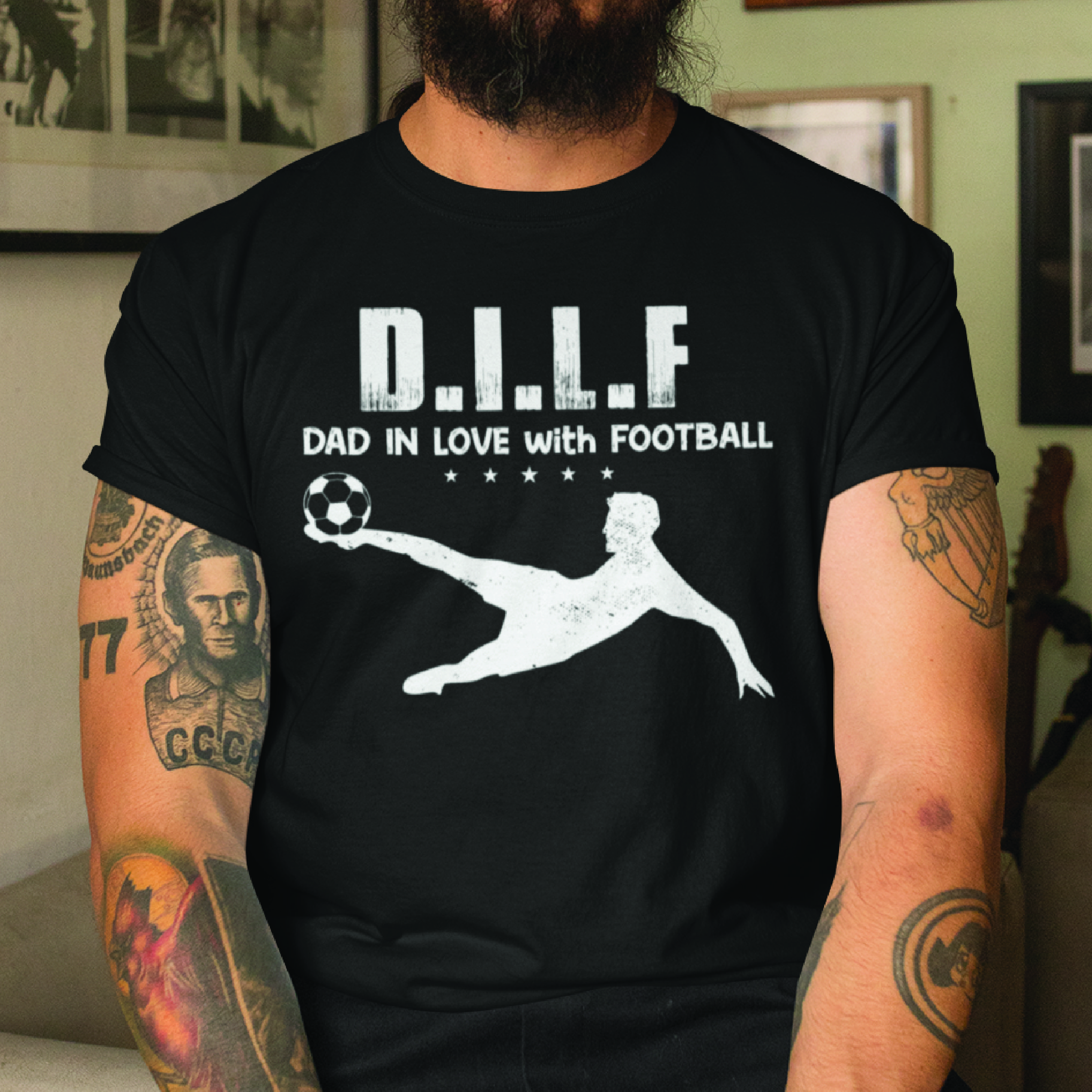 DILF Dad In Love With Football Shirt