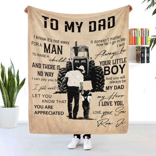 Dad blanket-best gift for dad to do with son