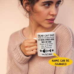 Dear Cat Dad Thanks For Being My Dad Personalized Mug