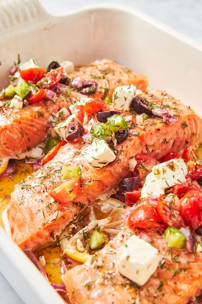 Easy Greek Salmon