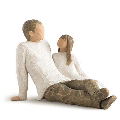 Father and Daughter Willow Tree Figures - Gift For Dad Who Passed Away