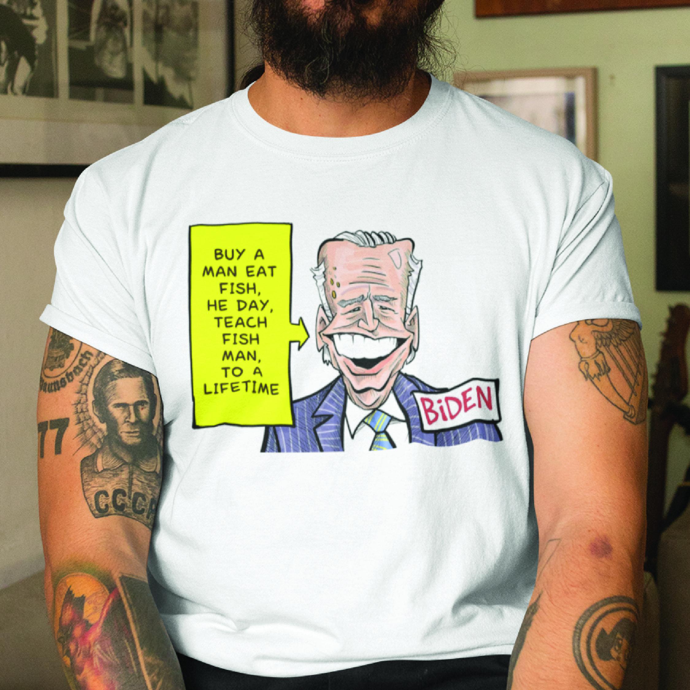 Funny Joe Biden Buy A Man Eat Fish Shirt