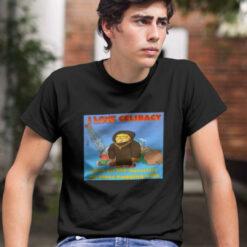 I Love Celibacy Garfield Shirt Back On The Monastery