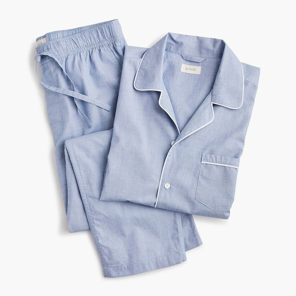 J.Crew Cotton Poplin Pajama- gift for friend whose dad has cancer