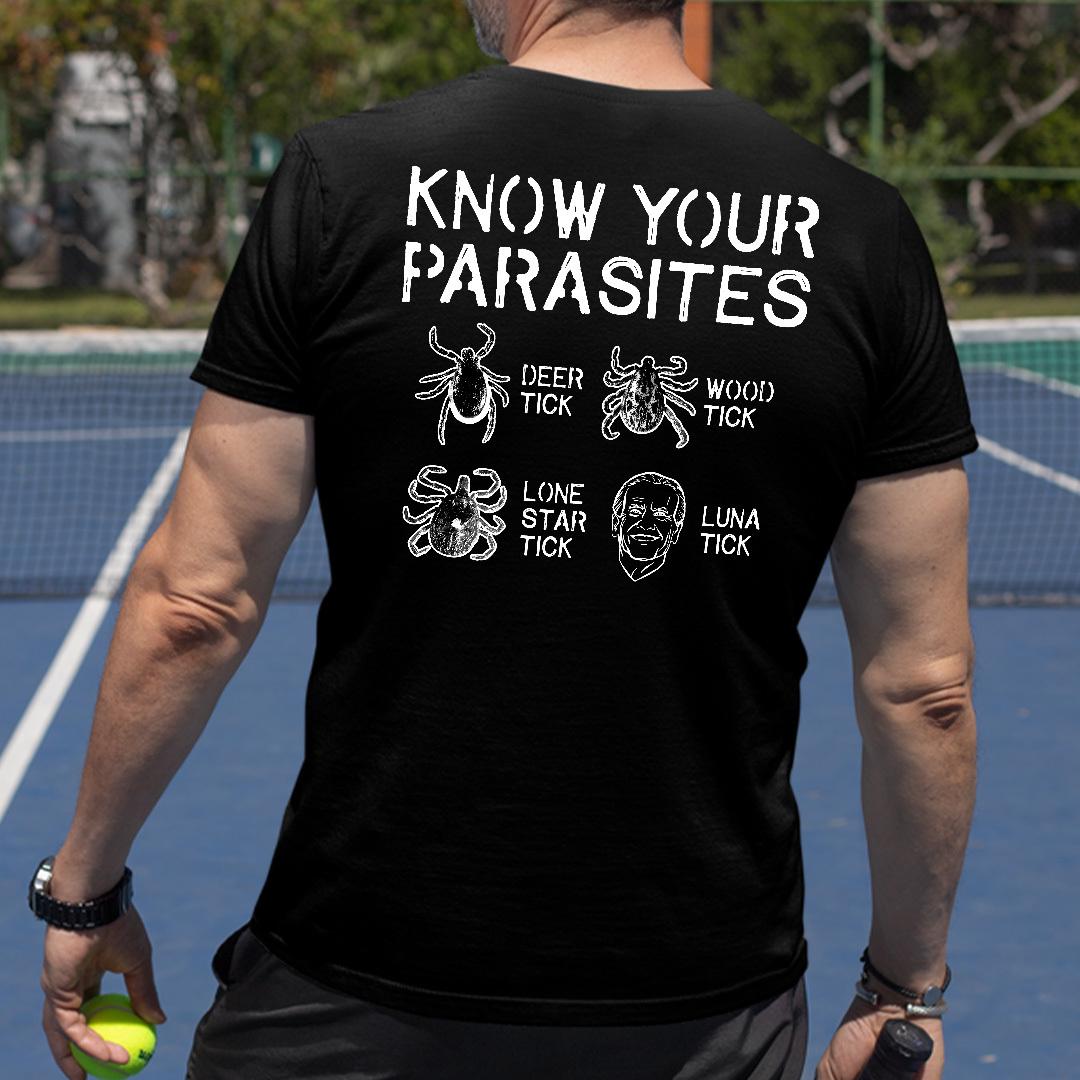 Know Your Parasites Anti Joe Biden Shirt
