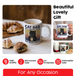 Like A Normal Father But Much Cooler Cat Dad Coffee Cup