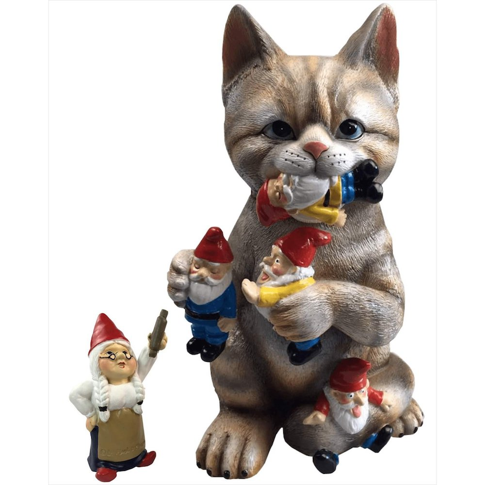 Mischievous Cat Garden Gnome- funny gift for dad who has everything amazon