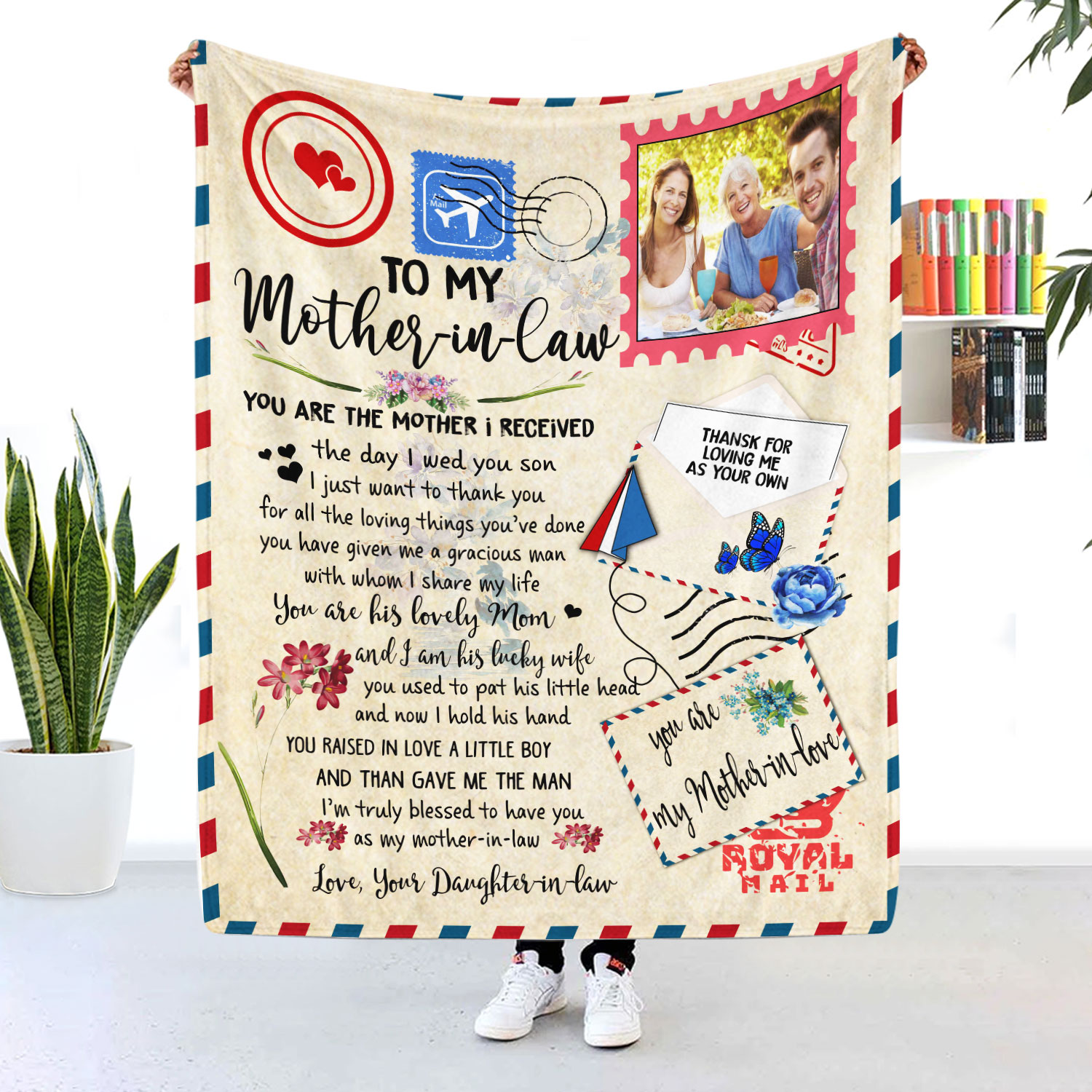 Mother In Law You Are The Mother I Received Air Mail Blanket