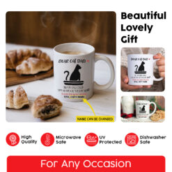 Personalized Dear Cat Dad Mug Thanks For Being My Dad