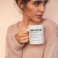 Personalized Worlds Best Dad Mug