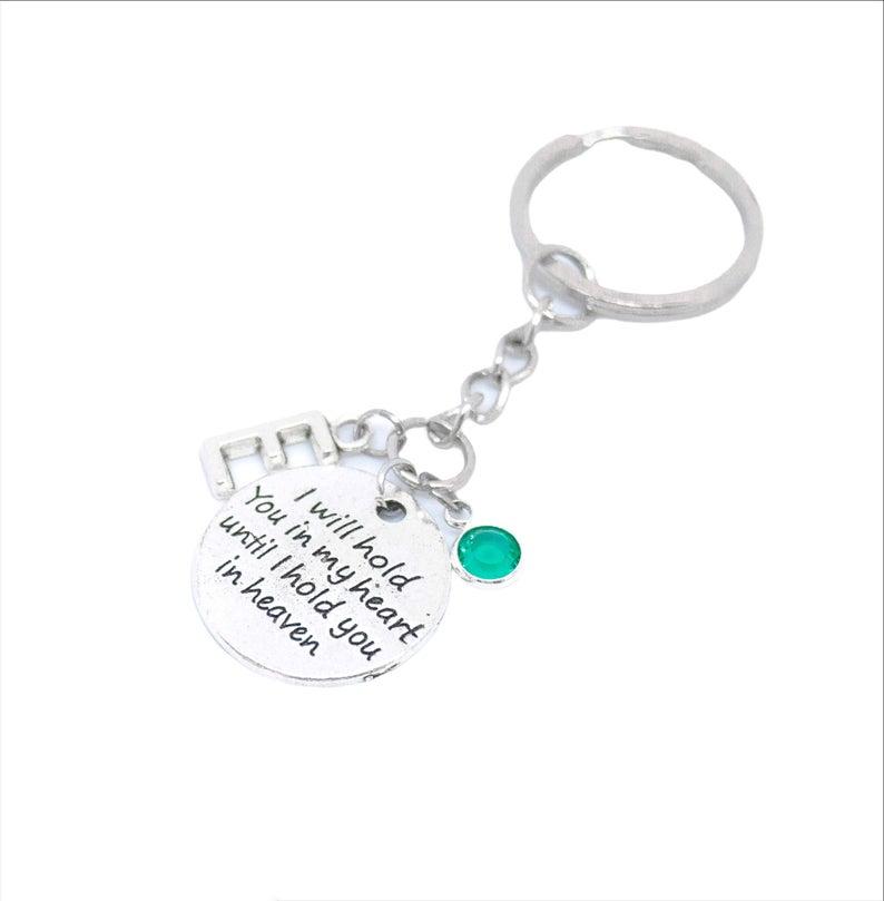 Personalized keychain sympathy gift