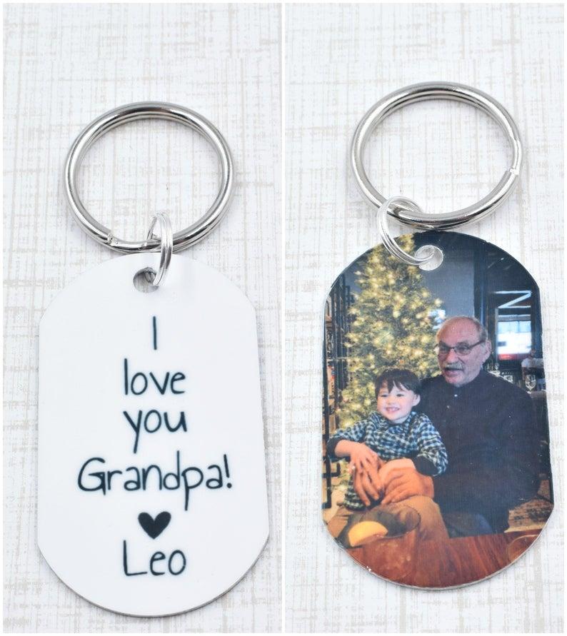 Photo Key Chain- best new grandad gifts.
