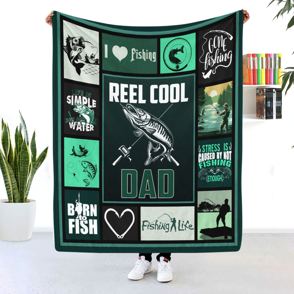 Reel cool dad fishing dad blanket what are gift ideas for dad