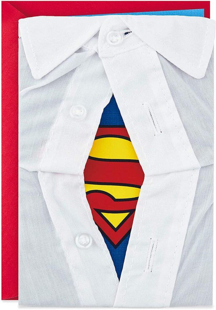 Superman Card- fun Father's Day card ideas