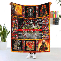 Thin Red Line Firefighter Blanket